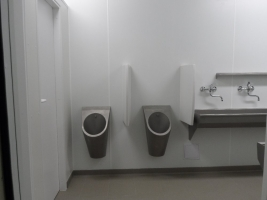 Sanitární kontejner v nerezovém provedení, Werneuchen/DE