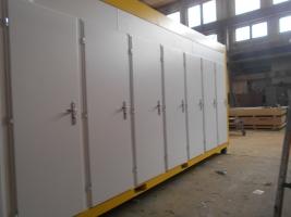Sanitární kontejner, 16x WC, Spielberg, Rakousko